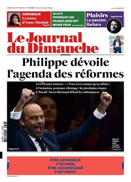 Journal Du Dimanche - 3 Septembre 2017