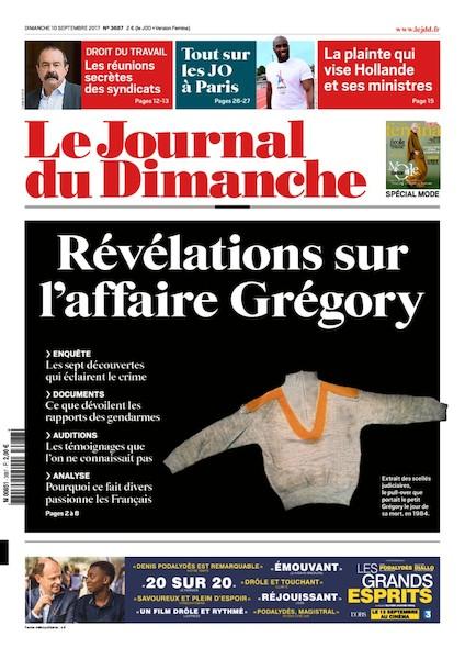 Journal Du Dimanche - 10 Septembre 2017