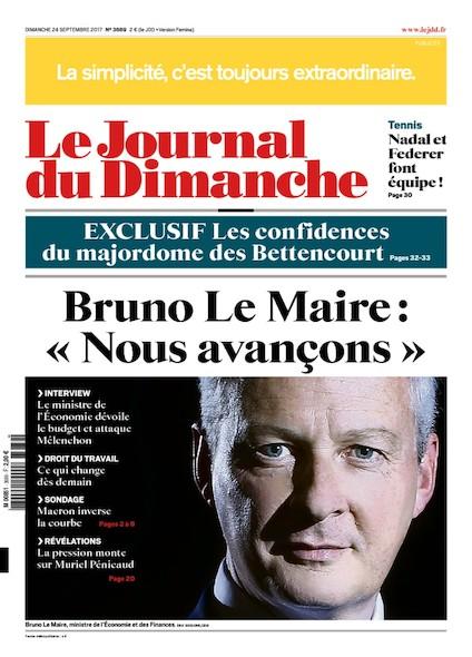 Journal Du Dimanche - 24 Septembre 2017