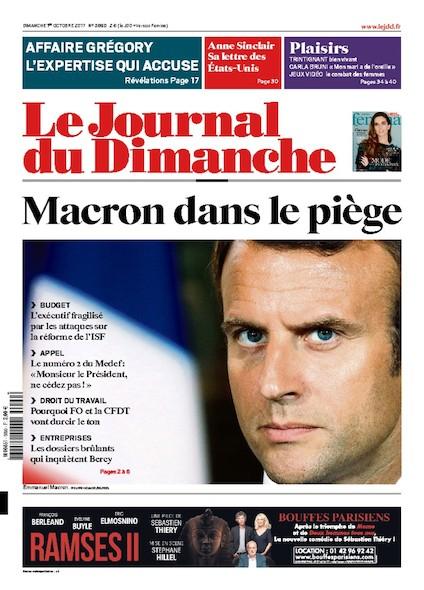 Journal Du Dimanche - 1 Octobre 2017