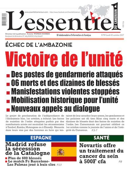 L'essentiel du Cameroun numéro 99