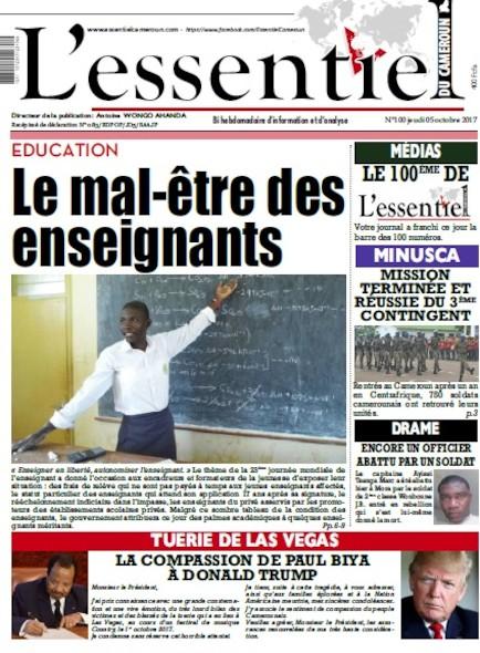 L'essentiel du Cameroun numero 100