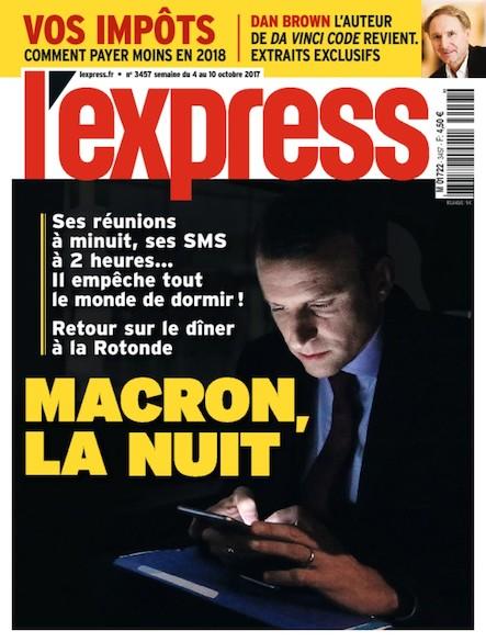 L'Express - Octobre 2017 - Macron, la nuit