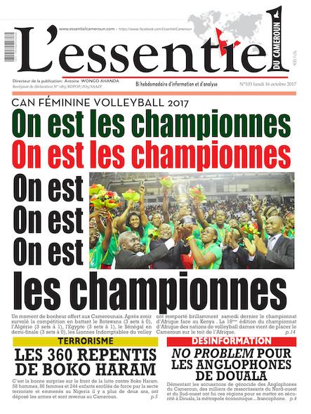 L'essentiel du Cameroun Numéro 103