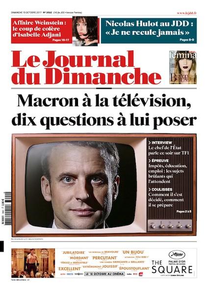 Journal Du Dimanche - 15 Octobre 2017
