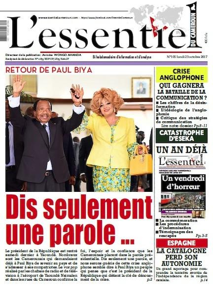 L'essentiel du Cameroun numéro 105