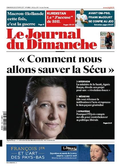Journal Du Dimanche - 22 Octobre 2017