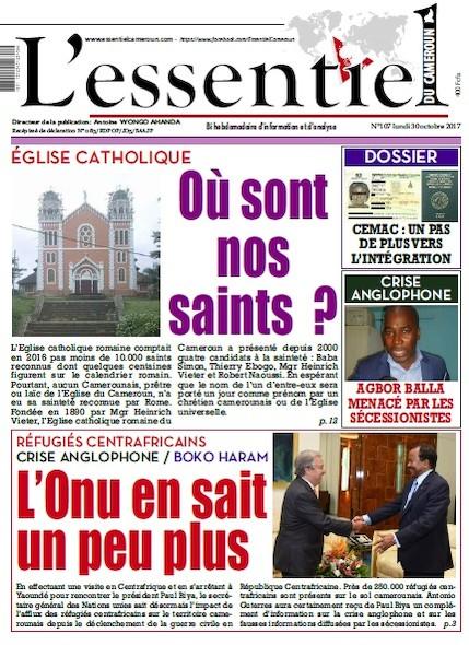 L'essentiel du Cameroun numéro 107