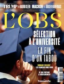 L'Obs | Octobre 2017 | Sélection à l'université, la fin d'un tabou |