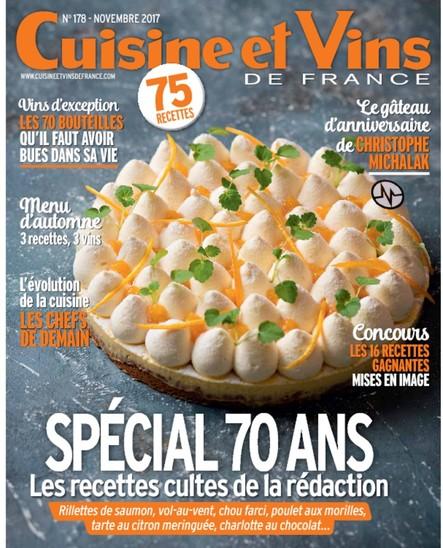 Cuisine et Vins - Septembre / Octobre / Novembre 2017
