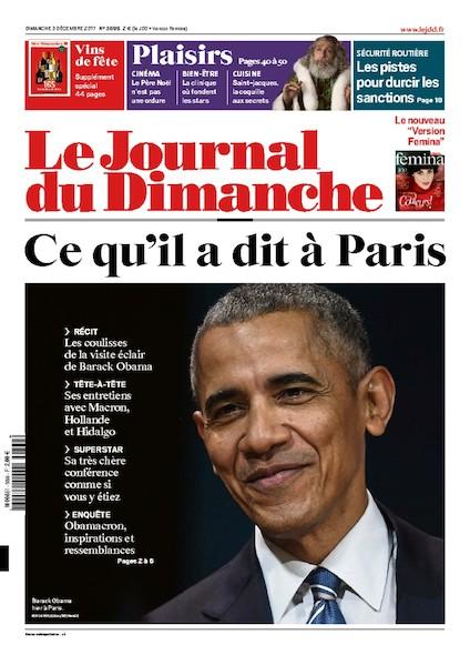 Journal Du Dimanche - 3 Décembre  2017