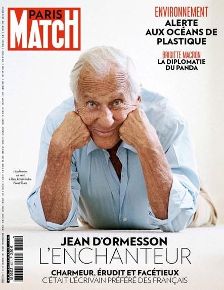 Paris Match n°3577 Décembre 2017 Jean d'Ormesson, l'enchanteur