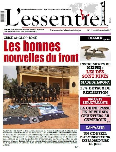 L'essentiel du Cameroun numéro 121