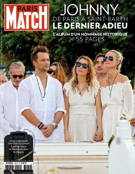 Paris Match n°3579 Décembre 2017 Johnny, de Paris à Saint-Barth : le dernier adieu