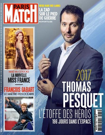 Paris Match n°3580 Décembre 2017 Thomas Pesquet : l'étoffe des héros