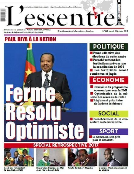 L'essentiel du Cameroun numéro 124