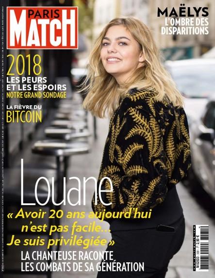 Paris Match n°3581 Décembre 2017 Louane