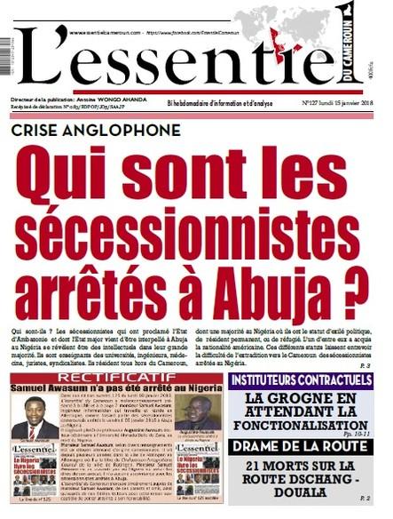 L'essentiel du Cameroun numéro 127