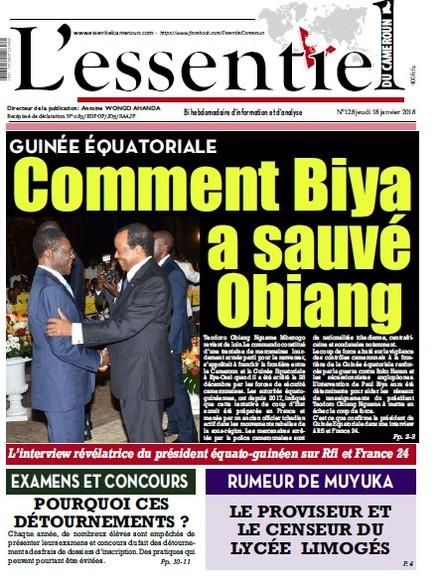 L'essentiel du Cameroun numéro 128