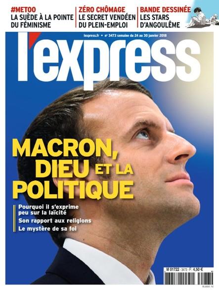L'Express - Janvier 2018 - Macron, dieu et la politique