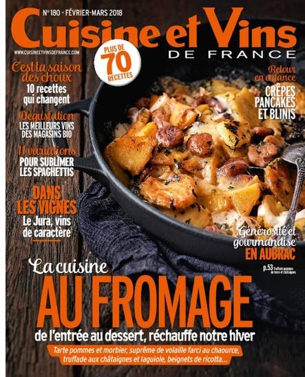 Cuisine et Vins - Février/Mars 2018