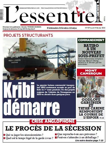 L'essentiel du Cameroun numéro 137