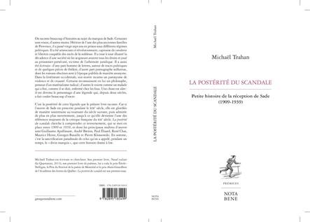 La postérité du scandale : Petite histoire de la réception de Sade (1909-1939)