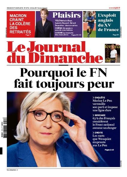 Journal du dimanche - 11 Mars 2018
