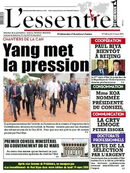 L'essentiel du Cameroun numéro 144