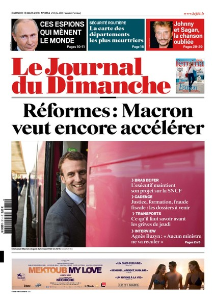 Journal du dimanche - 18 Mars 2018