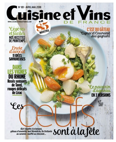 Cuisine et Vins - Avril/Mai 2018