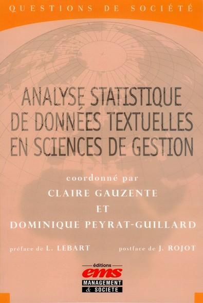 Analyse statistique de données textuelles en sciences de gestion