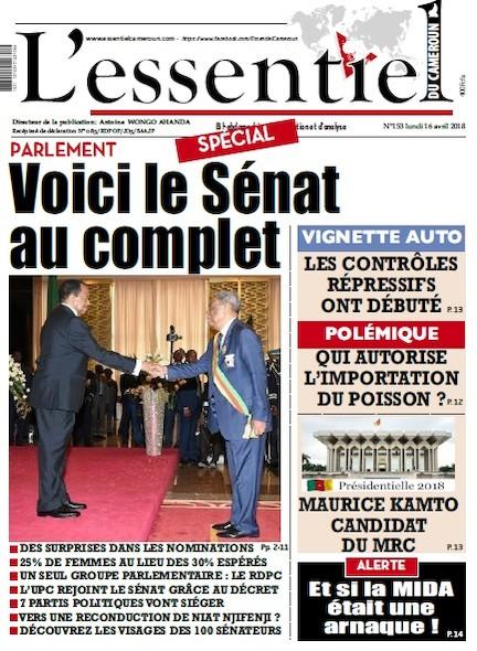 L'essentiel du Cameroun numéro 153
