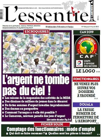 L'essentiel du Cameroun numéro 154