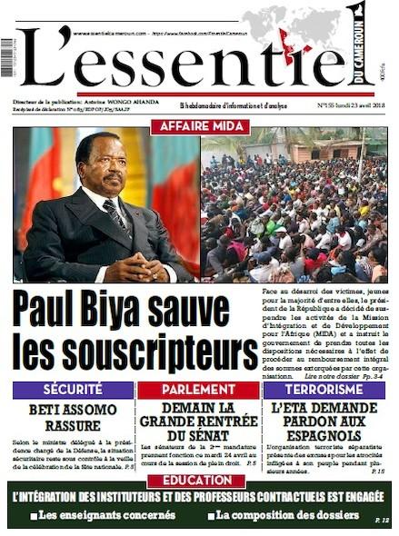 L'essentiel du Cameroun numéro 155