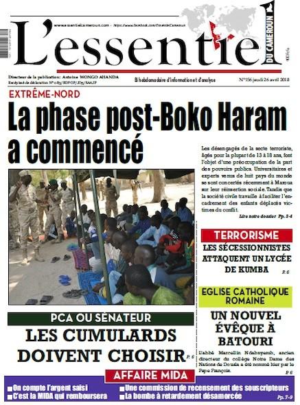 L'essentiel du Cameroun numéro 156