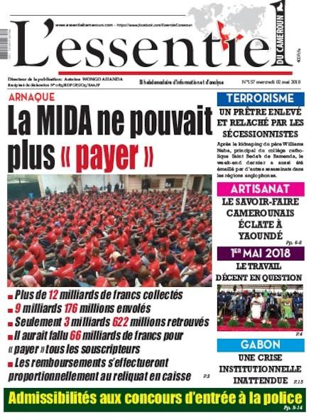 L'essentiel du Cameroun numéro 157