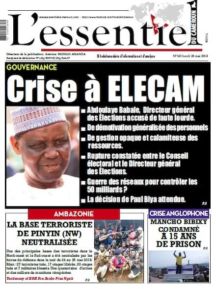 L'essentiel du Cameroun numéro 163