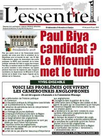 L'essentiel du Cameroun numéro 166   