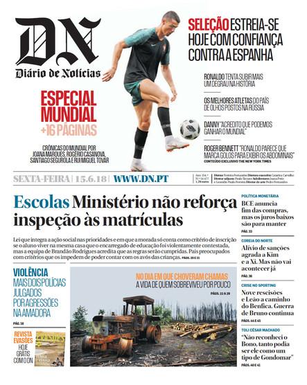 Diário de Notícias - 15 de junho 2018
