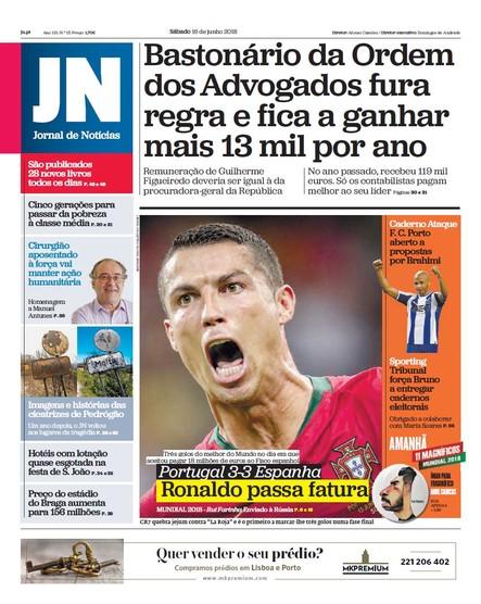 Jornal de Notícias - 16 de junho 2018