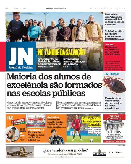 Jornal de Notícias - 17 de junho 2018
