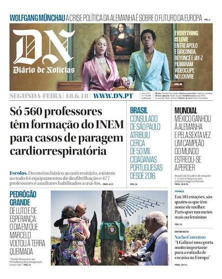 Diário de Notícias - 18 de junho 2018