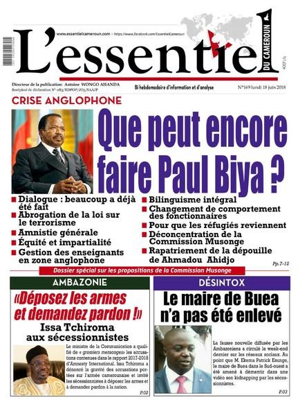 L'essentiel du Cameroun numéro 169