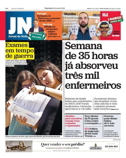 Jornal de Notícias - 19 de junho 2018