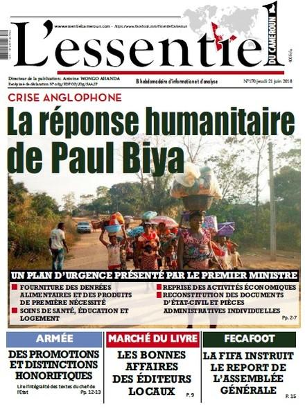 L'essentiel du Cameroun numéro 170