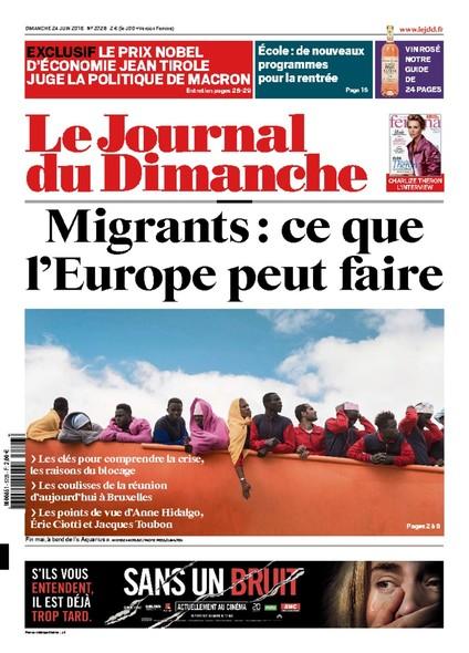 Journal du dimanche - 24 juin 2018