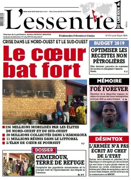 L'essentiel du Cameroun numéro 171