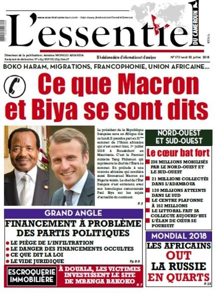 L'essentiel du Cameroun numéro 173