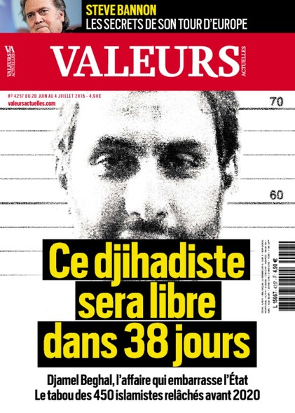 Valeurs Actuelles - Juin 2018 - Ce Djihadiste sera libre dans 38 jours